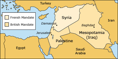 Image result for the mandate of Palestine, Syria and Mesopotamia
